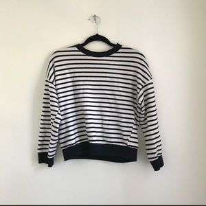 Sweaters - stripe heart patch sweater